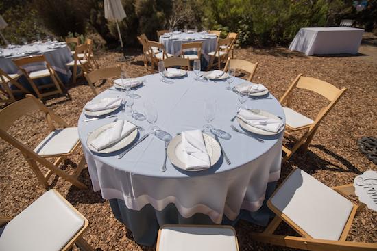 Wedding Reception Setup South African Garden